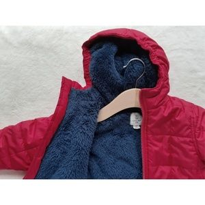 Lands' End Sherpa Puffer Snow Coat Toddler Boy's